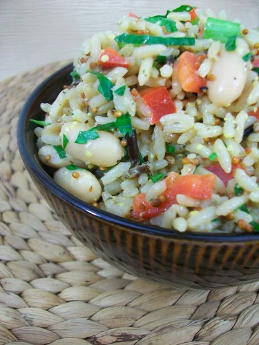 Wild Rice and Cannellini Bean Salad with Dijon Vinaigrette