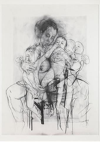 lesfemmesartistes:  Jenny Saville, Reproduction drawing I (after the Leonardo cartoon), 2009-10.