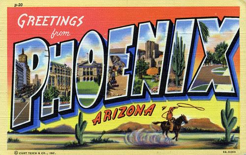 Greetings from Phoenix, Arizona - Large Letter Postcard