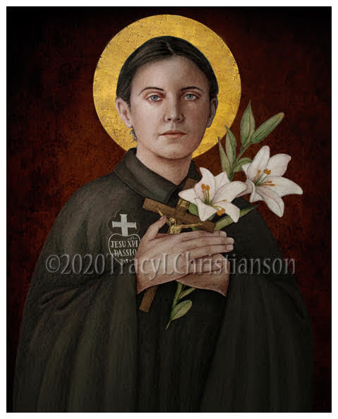 St Gemma Galgani Print Portraits Of Saints