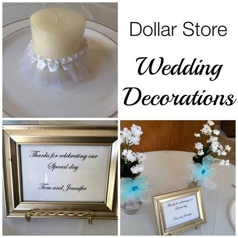 Dollar Store Wedding Decorations