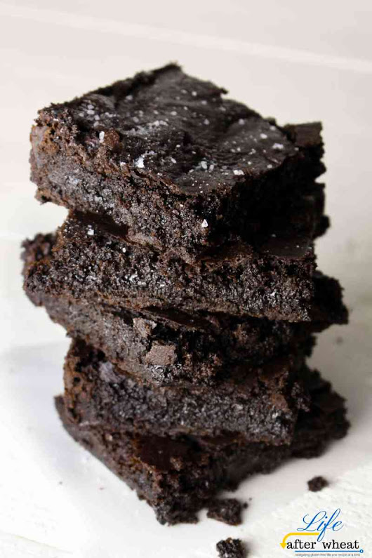 Gluten Free Brownies with Sea Salt (dairy free) – Life After Wheat