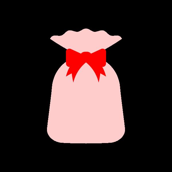 縁無しでかわいいプレゼント袋の無料イラスト商用フリー オイデ43