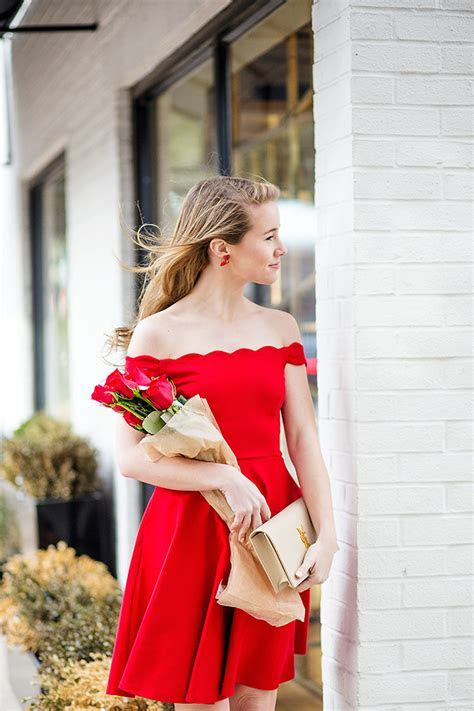 red scalloped valentine's dress   a lonestar state of southern