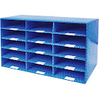 Storex Laminated Corrugated Mailroom Sorter 15 Compartment