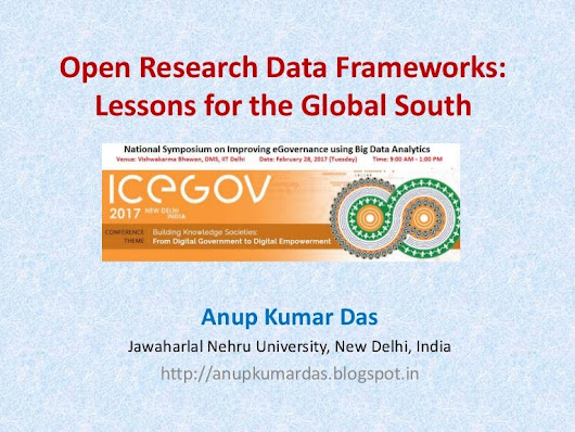 Open Research Data Frameworks: Lessons for the Global South
