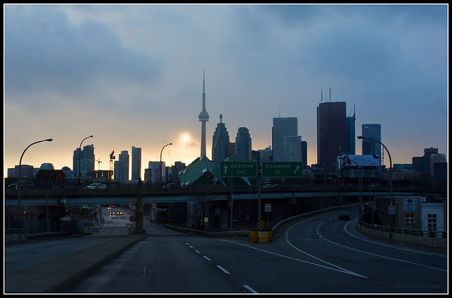 Downtown Toronto in the evening