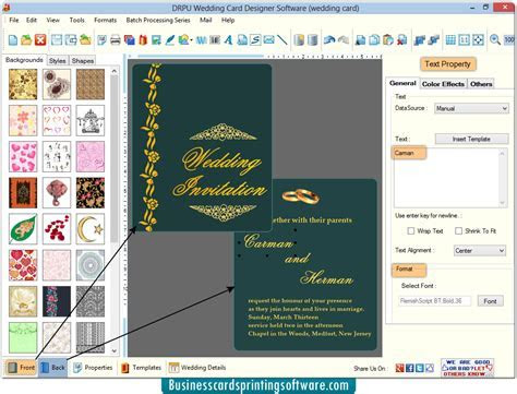Wedding Card Designing software design and print marriage