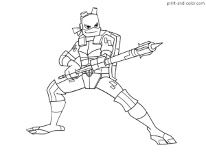 rise of teenage mutant ninja turtles coloring pages  print and color