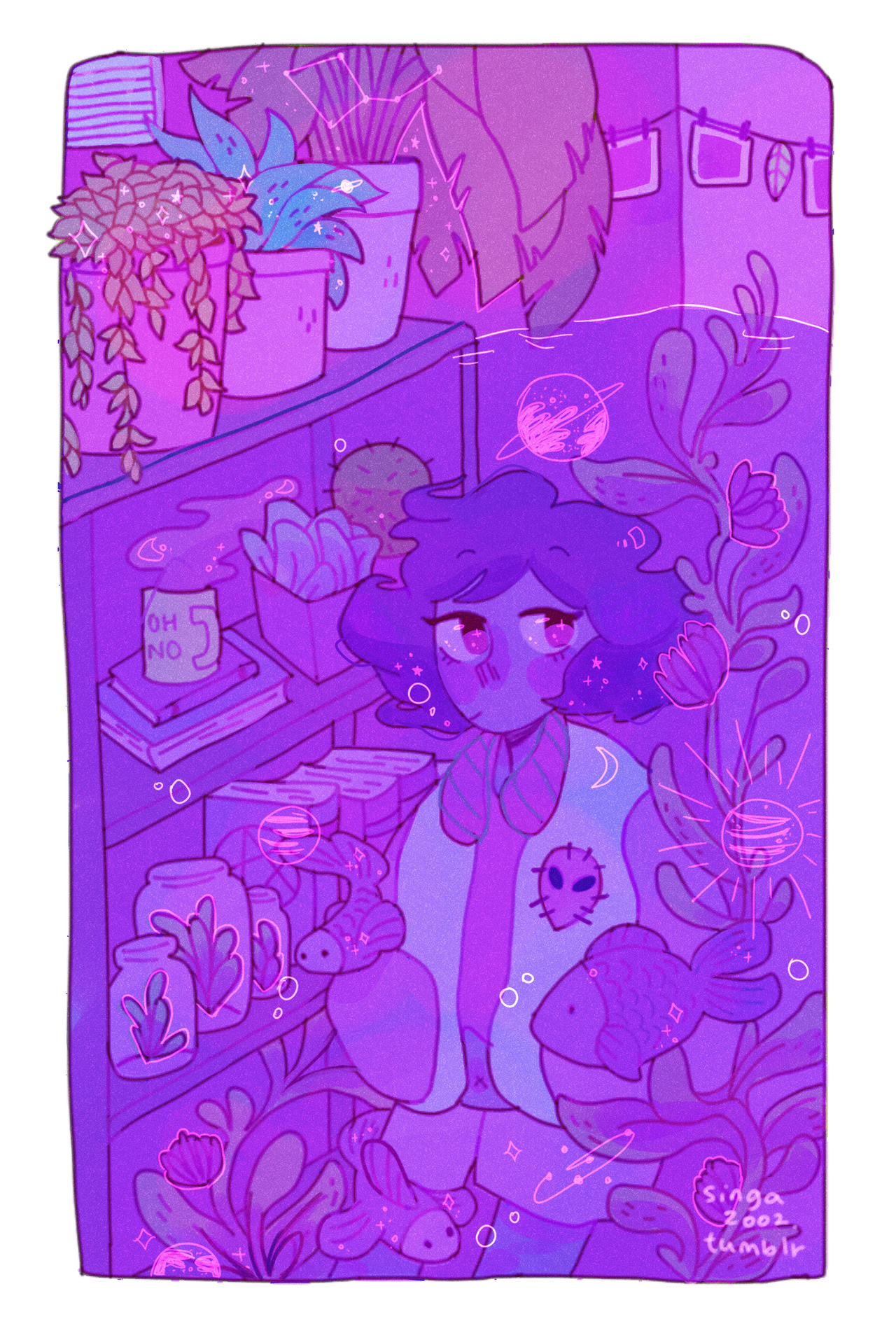 this was my piece for the ocean gem zine!! finished this last summer ♥