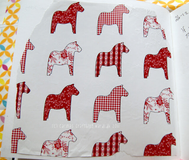 Dalahäst wrapping paper