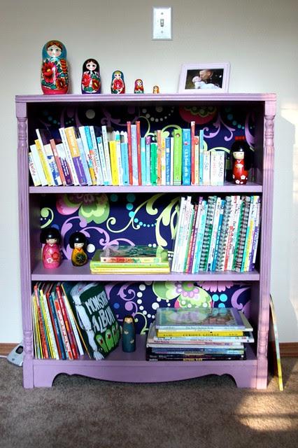 Bookshelf painted with Annie Sloan chalk paint Henrietta