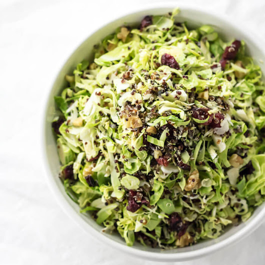 Shaved Brussels Sprout and Cranberry Salad | infinebalance
