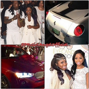 Photos : Lil Wayne Gifts His 16-Year Old Daughter A Ferrari & BMW For Her Birthday