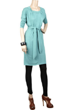 Vanessa Bruno Belted Cashmere-Blend Dress