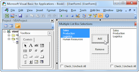 Multiple List Box Selections in Excel VBA