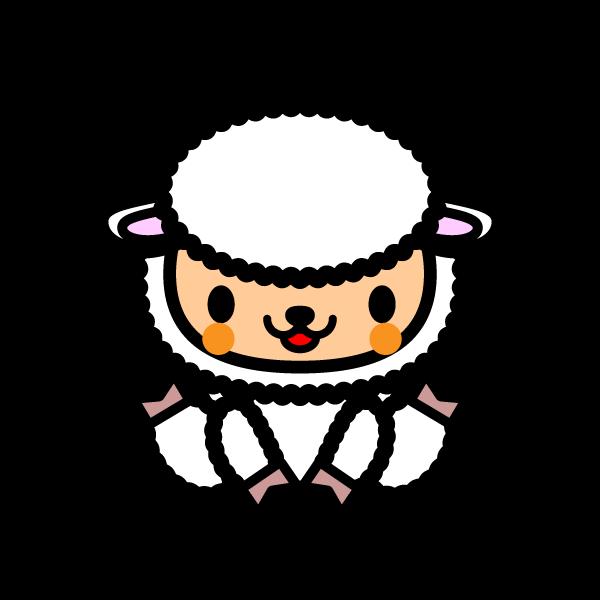 かわいい羊の無料イラスト商用フリー オイデ43