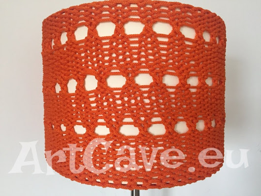 Ikea lampshade hack – knitted lampshade cover | Art Cave