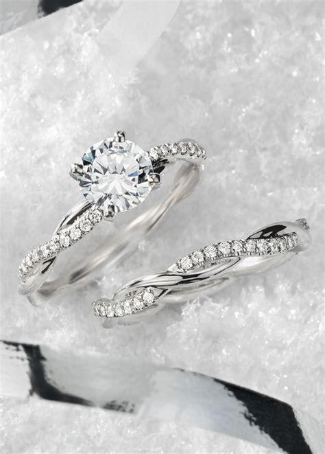 Petite Twist Diamond Engagement Ring in Platinum (1/10 ct