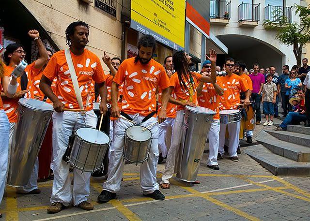 Maracatu Percussion Band, Festa de la Cirera, Torrella de Llobregat, Barcelona [enlarge]