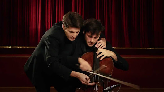 2CELLOS on 1 cello! Every Teardrop Is a Waterfall - Coldplay - YouTube