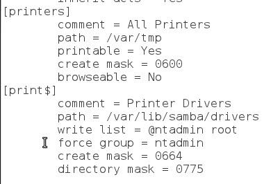 Samba Print Server smb.conf