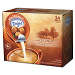 Coffee Creamer, Hazelnut, 0.4375 oz Liquid, 24/Box 100680