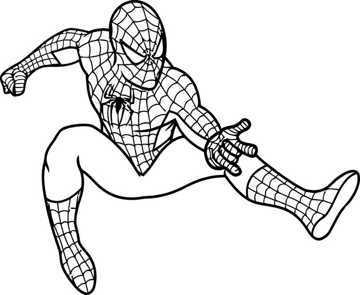 Superhero Coloring Pages For Kids Boys - Coloring And Drawing
