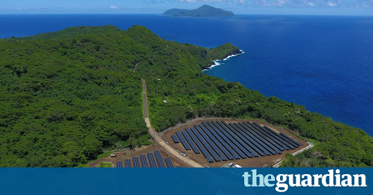 South Pacific island ditches fossil fuels to run entirely on solar power | Environment | The Guardian