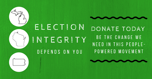 Election Integrity depends on YOU!