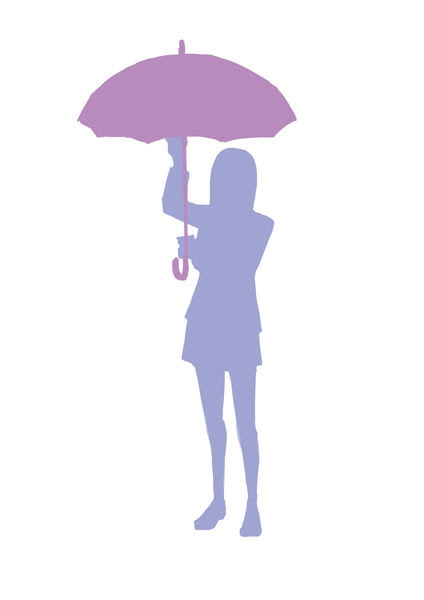 傘をさす 途中① ふしきなイラスト見聞録