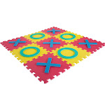 Giant Classic Tic Tac Toe Game - Oversized Interlocking Coloful EVA Foam Squares with Jumbo X and O Pieces Play by Hey!