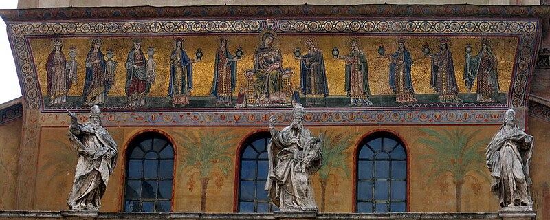 File:Exterior Mosiac of Santa Maria Trastevere.jpg