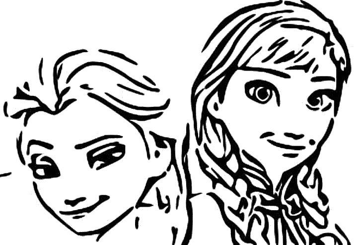 Dibujo Para Colorear Frozen 2 Anna Y Elsa 1