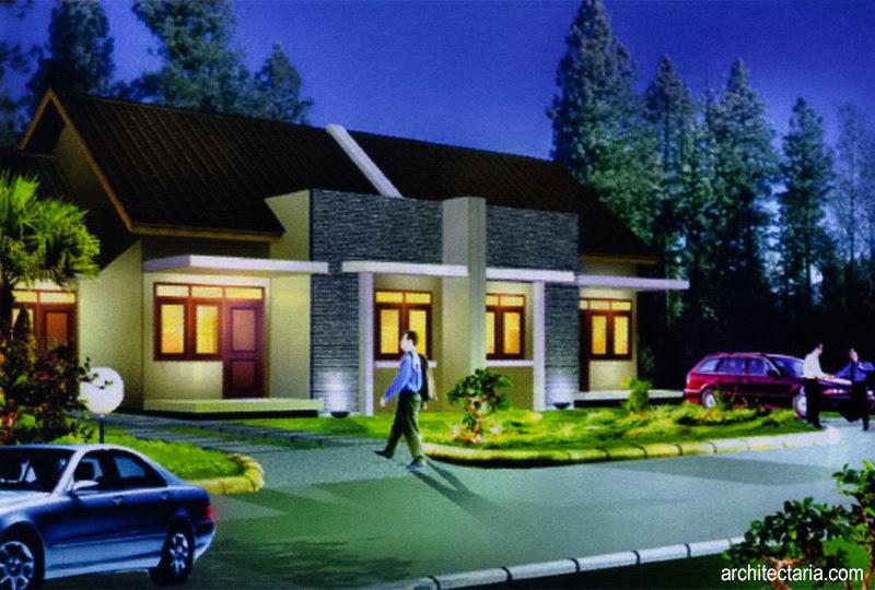 Desain Rumah Mungil Type 45  PT. Architectaria Media Cipta