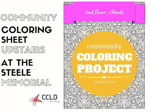 August is Adult Coloring Month at Steele