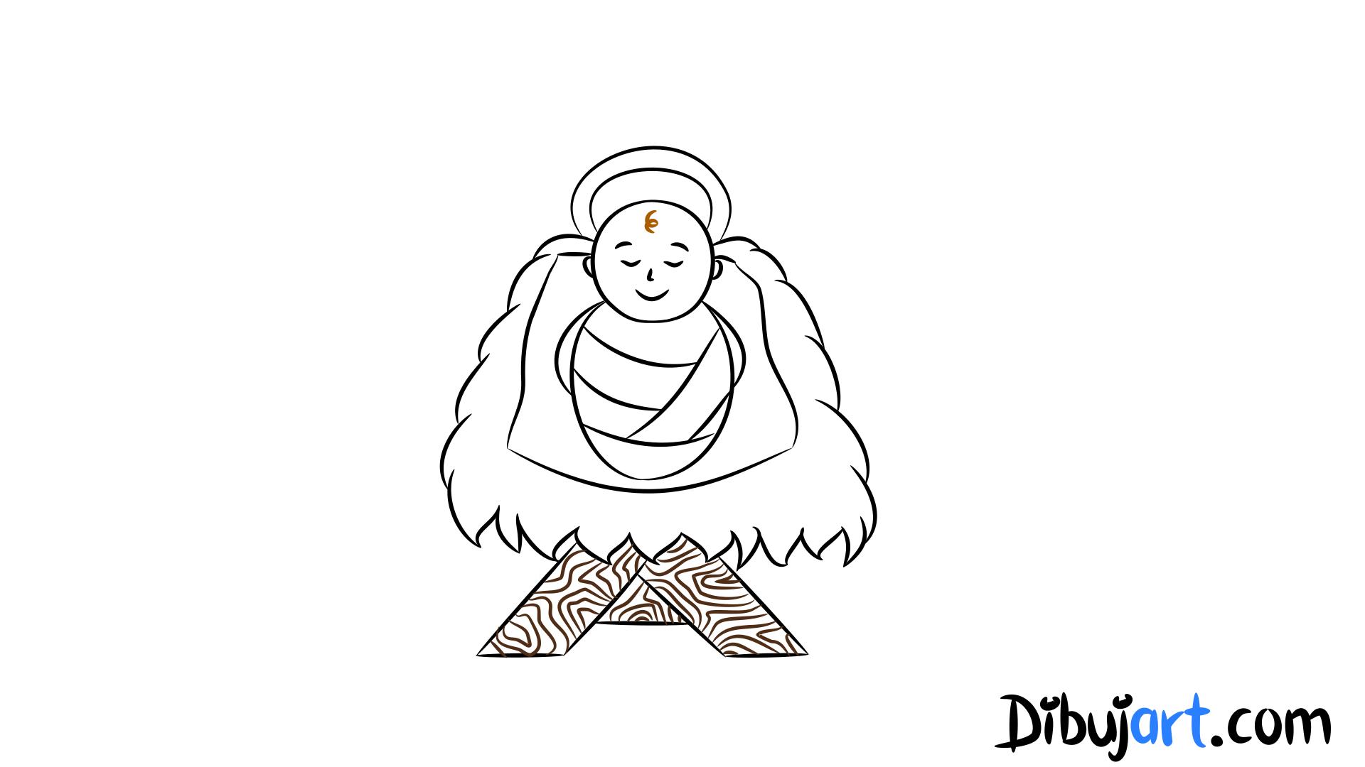Cómo Dibujar Al Niño Jesús Paso A Paso Dibujartcom