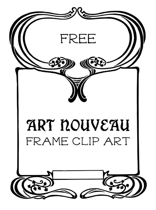 Royalty Free Stock Vector | Art Nouveau Frame | Oh So Nifty Vintage Graphics