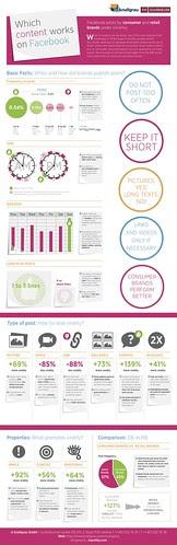 ¿Cúal es el contenido que tiene más éxito en facebook?  Infográfico by Social BIz Solutions