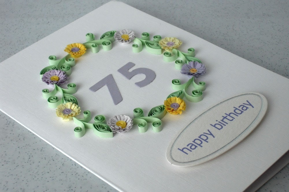 Handmade 75th birthday card, for any age