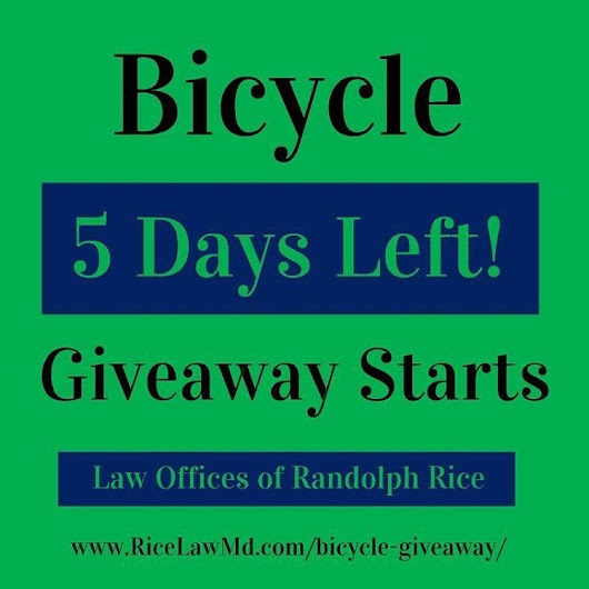 Law Offices of G. Randolph Rice, Jr. — Our Christmas bicycle giveaway starts in 5 days....