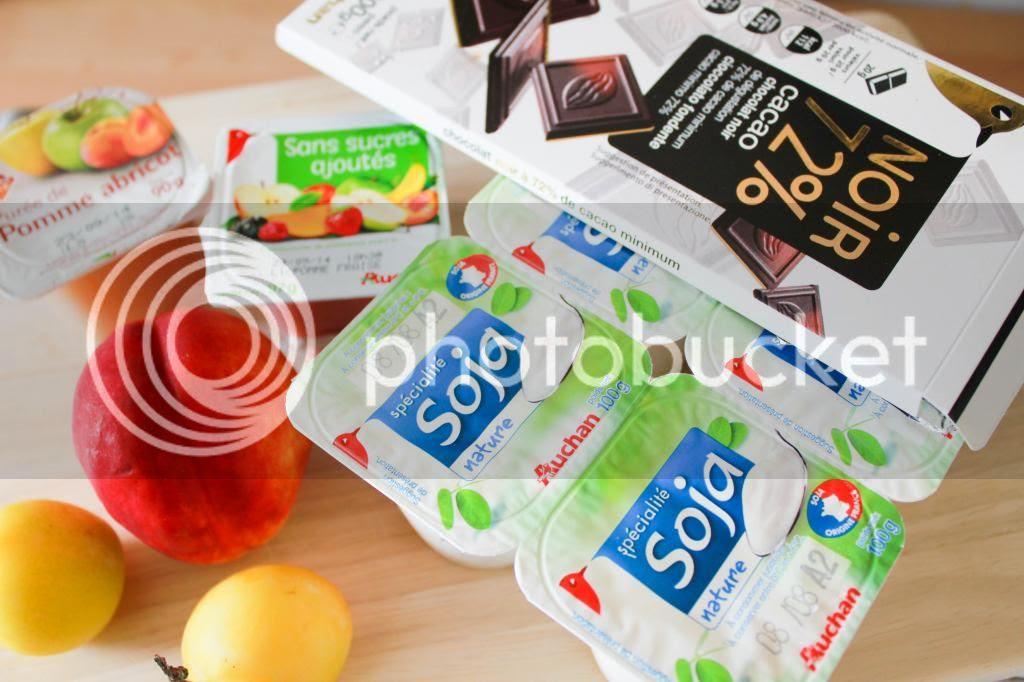yaourt soja auchan fruits frais et purées de druit sans sucres ajoutés auchan leader price