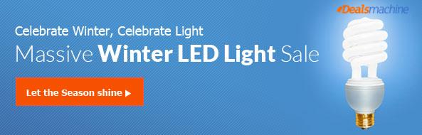 Celebrate Winter, Celebrate Light: Massive Winter LED Light Sale