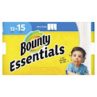 Bounty 75720 Essentials Select-A-Size Paper Towels, 2-Ply, 78 Sheets/Roll, 12 Rolls/Carton