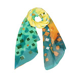 Light and Bright Grid Design Scarf and Shawl, Blue/Yellow / Green from Gifts Are Blue