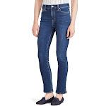 Ralph Lauren Womens Blue Regal Ankle Straight Jeans Petites