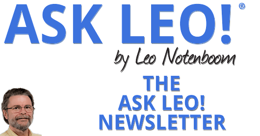 Ask Leo! #620 - Networking, Shopping, Image vs. Clone (fight!), and more... - The Ask Leo! Newsletter
