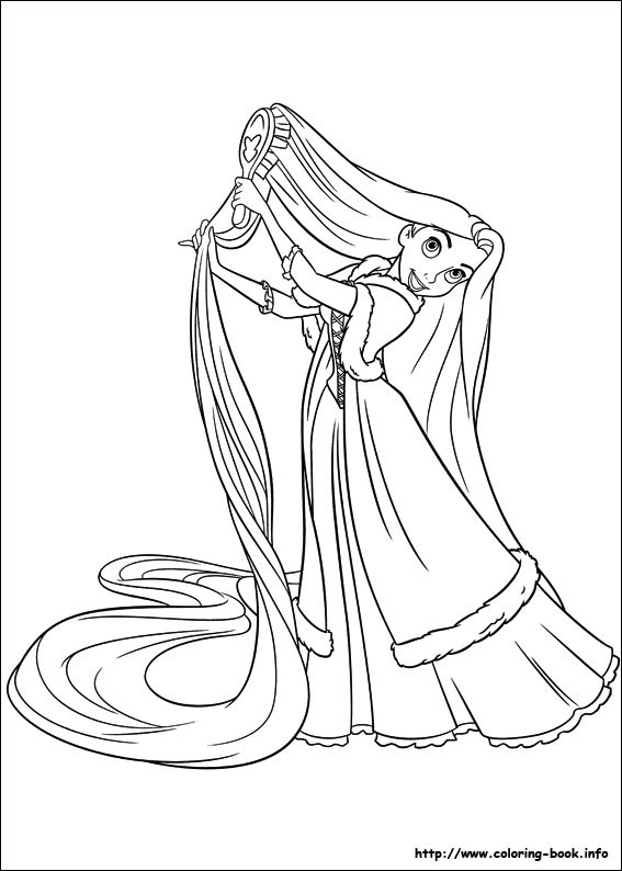 4200 Top Rapunzel Coloring Book Pages Pictures