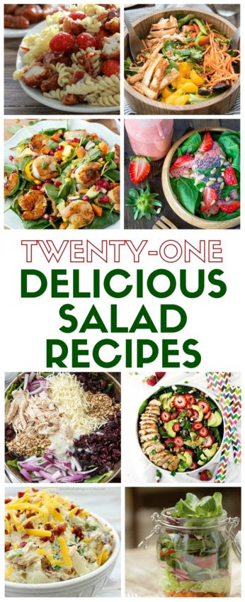 21 Delicious Salad Recipes - The Crafty Blog Stalker - HMLP 90 - Feature