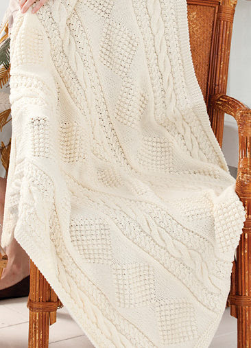 Free Knitting Pattern for Treasure Chest Throw